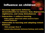influence on children