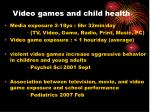 video games and child health