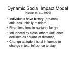 dynamic social impact model nowak et al 1990