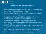 caf design considerations