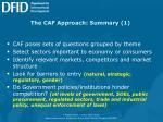the caf approach summary 1