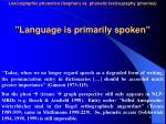 language is primarily spoken