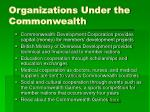 organizations under the commonwealth