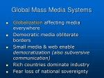 global mass media systems