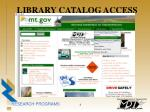 library catalog access