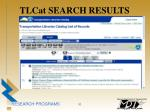 tlcat search results