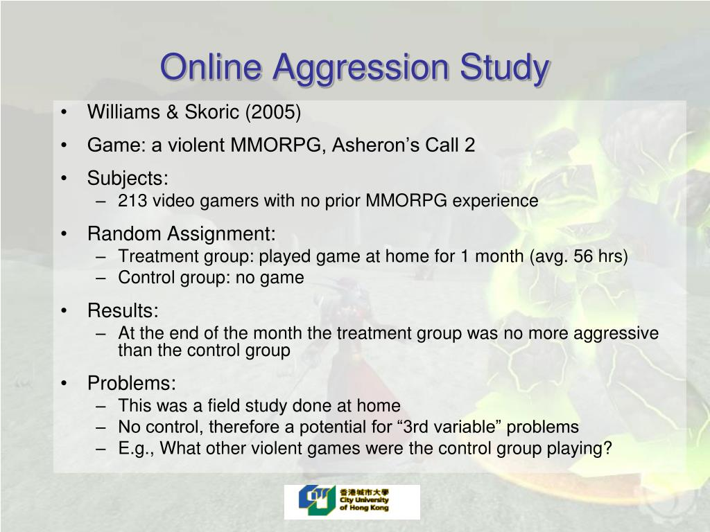 Online Aggression Study