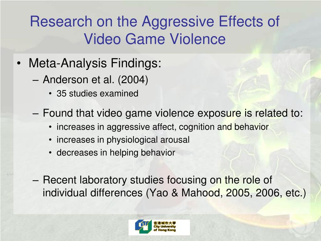 Research on the Aggressive Effects of Video Game Violence