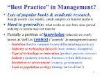 best practice in management