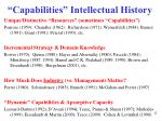 capabilities intellectual history