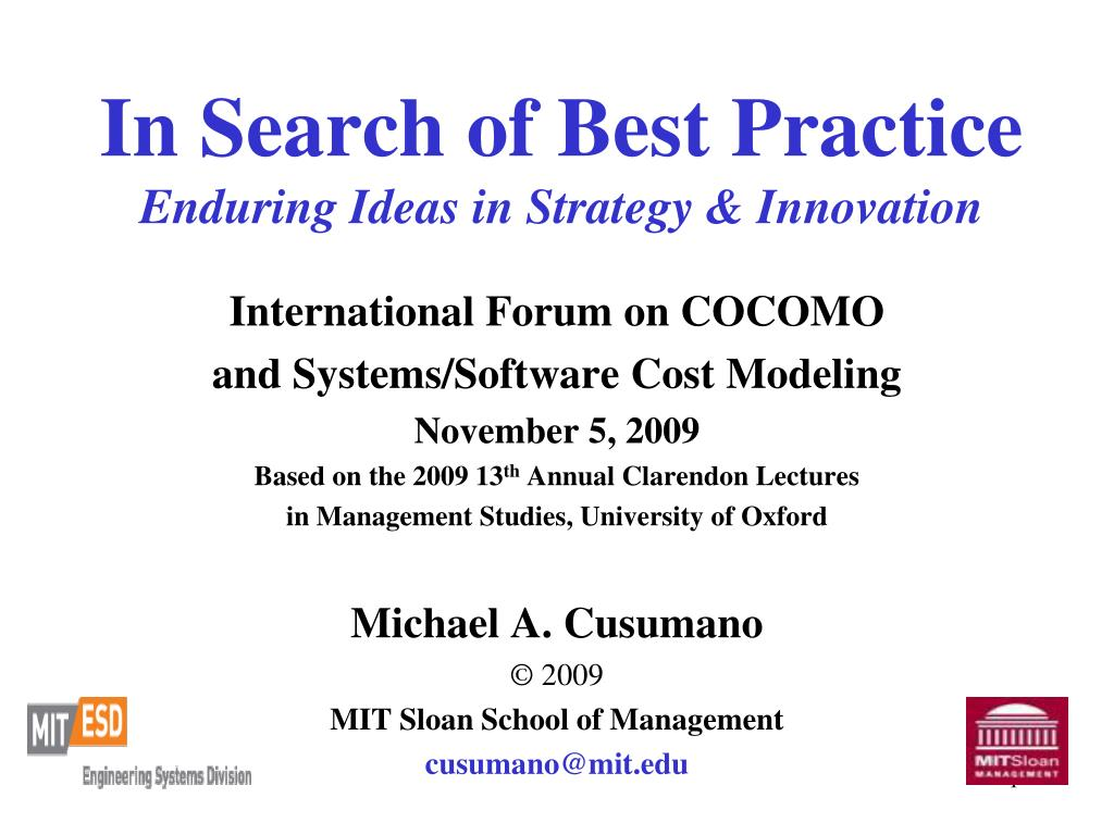 in search of best practice enduring ideas in strategy innovation l.