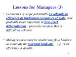 lessons for managers 3