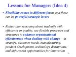 lessons for managers idea 4