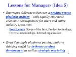 lessons for managers idea 5