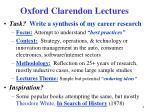 oxford clarendon lectures