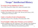 scope intellectual history