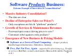 software products business extreme example of innovation commoditization