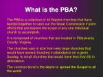 what is the pba
