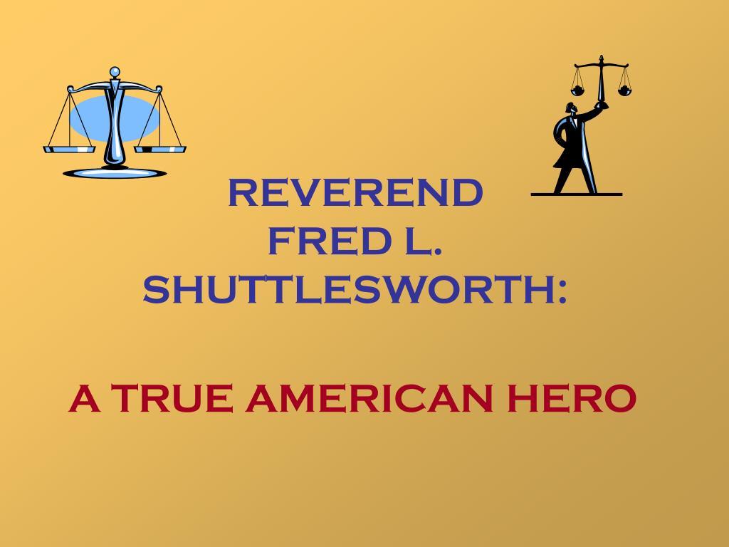 reverend fred l shuttlesworth l.