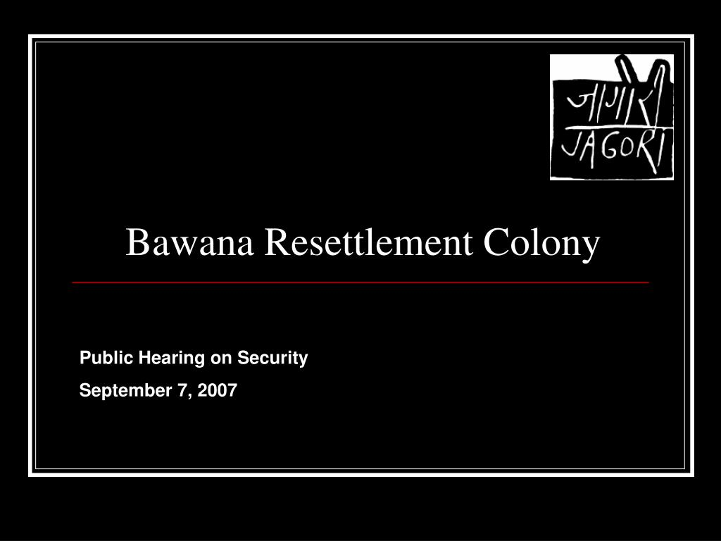 bawana resettlement colony l.