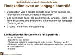 m thodologie tape 2 formuler le sujet l indexation avec un langage contr l