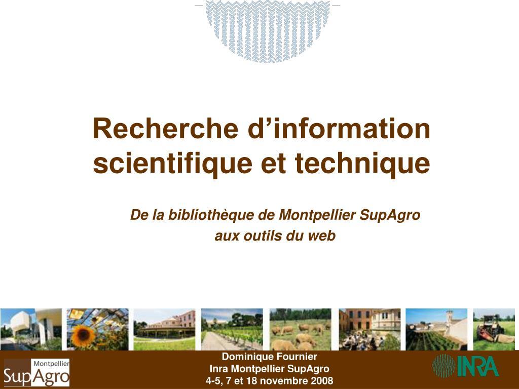 recherche d information scientifique et technique l.