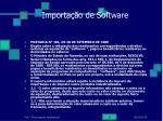 importa o de software