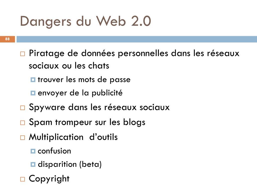 Dangers du Web 2.0