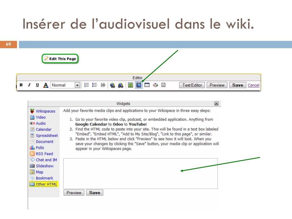 Insérer de l'audiovisuel dans le wiki.