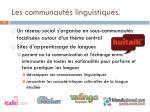 les communaut s linguistiques