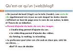 qu est ce qu un web blog