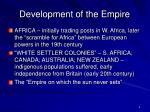 development of the empire4