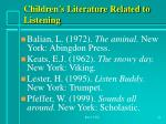 children s literature related to listening