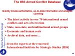 the iiss armed conflict database