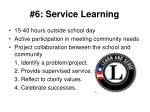 6 service learning