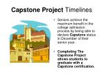 capstone project timelines