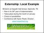 externship local example