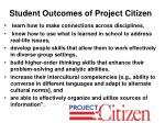 student outcomes of project citizen