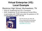 virtual enterprise ve local example