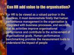 can hr add value to the organisation