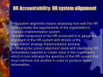 hr accountability hr system alignment