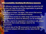 hr accountability identifying hr efficiency measures