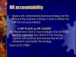 hr accountability