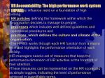 hr accountability the high performance work system hpws