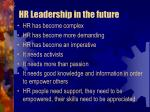 hr leadership in the future