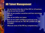 hr talent management