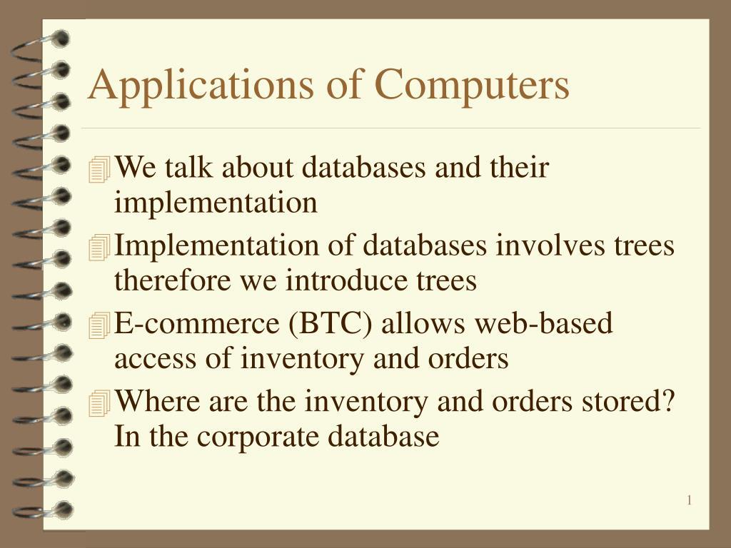 applications of computers l.