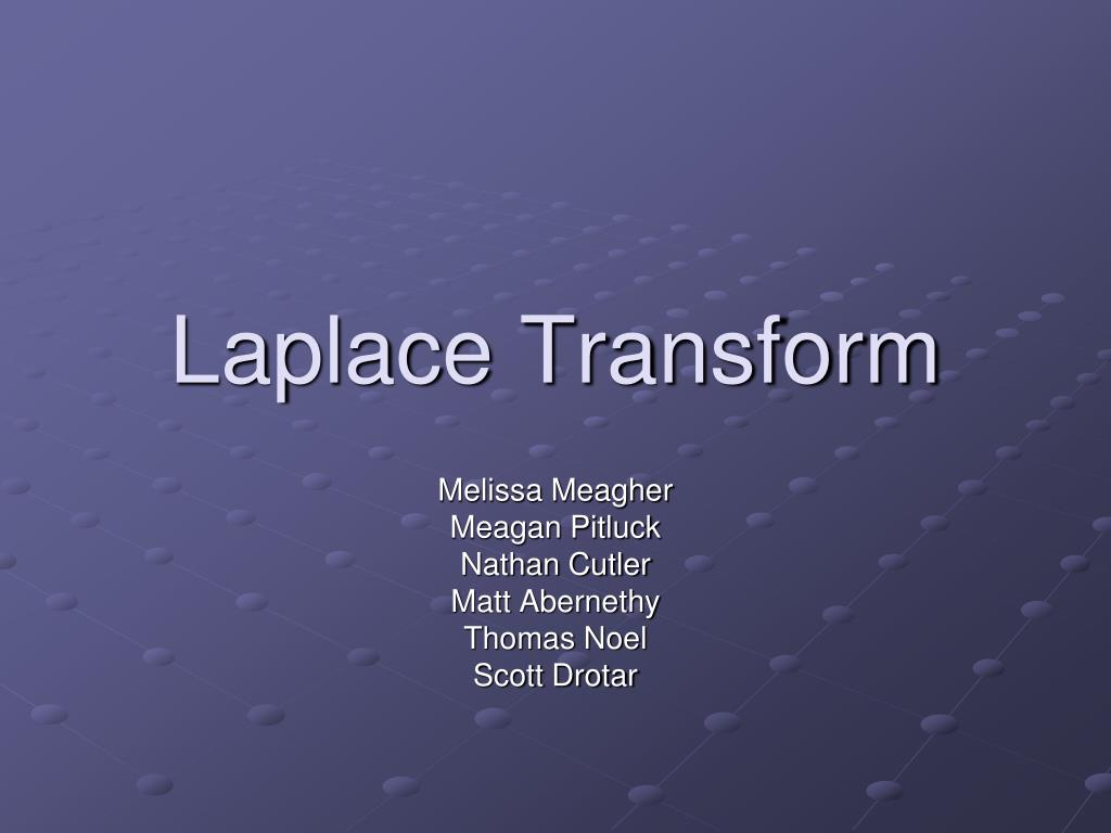 laplace transform l.