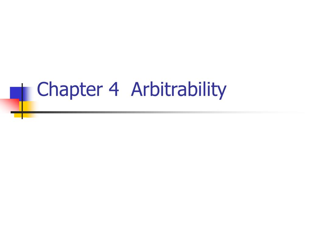 chapter 4 arbitrability l.