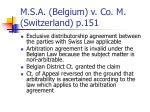 m s a belgium v co m switzerland p 151